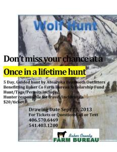wolf hunt lottery
