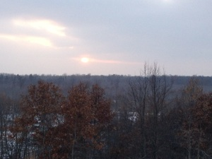 ZONE 3: sunset on last day of wolf hunt