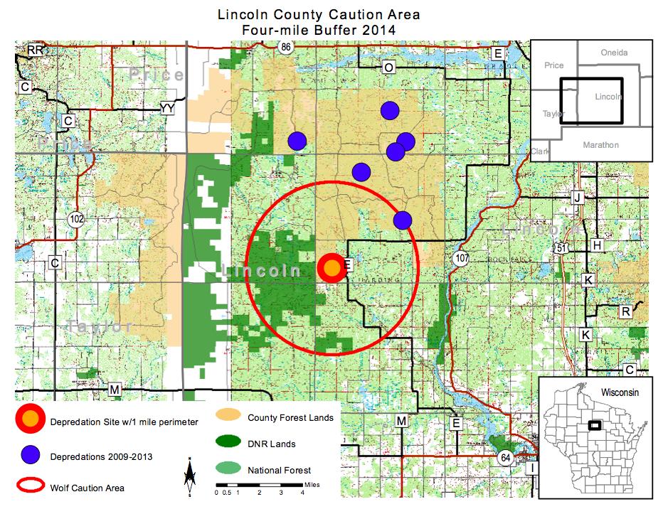 Public Hunting Land Wisconsin Map.Photos Wolf Patrol