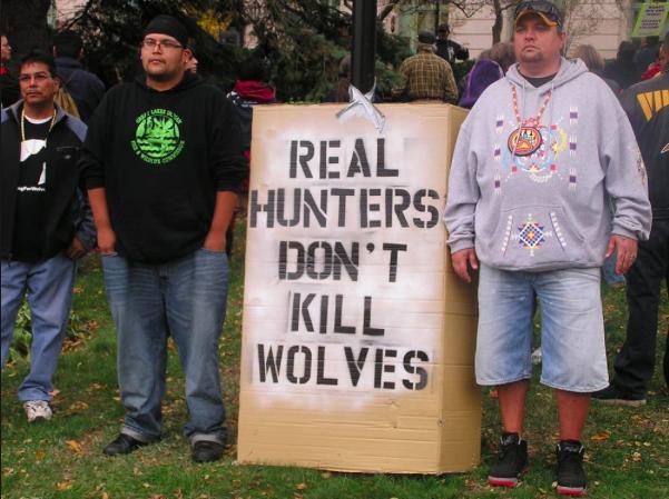 Indigenous Wolf Hunt Protestors