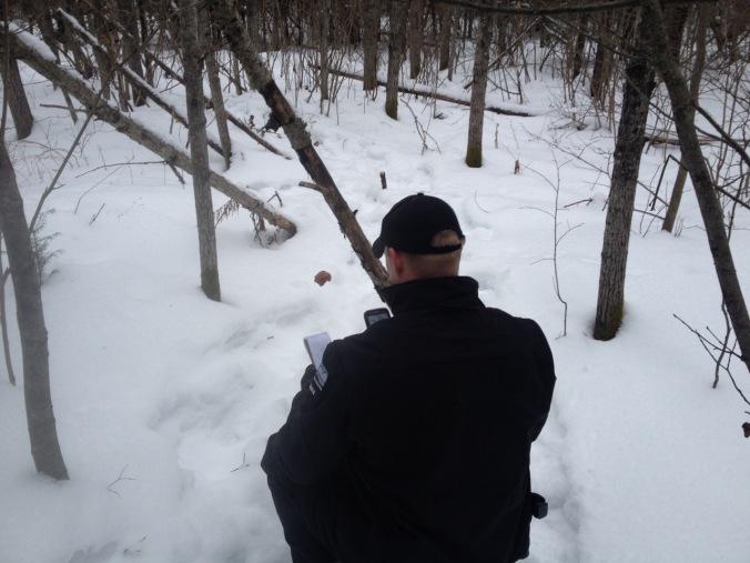 warden investigating baits
