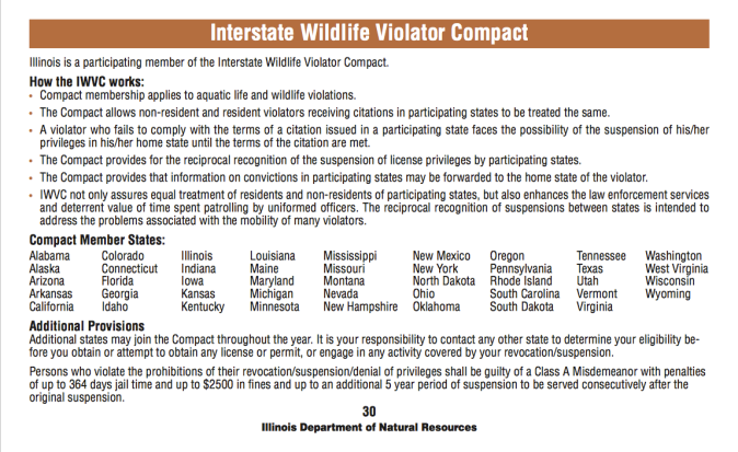 SR4 Interstate Wildlife Violator Compact