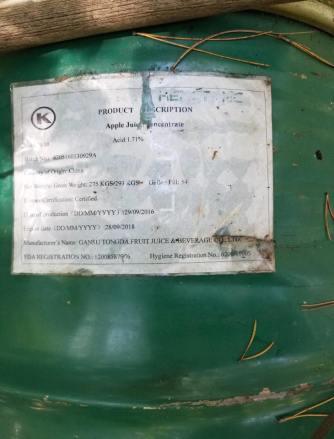 55-gallon drum of bear bait.