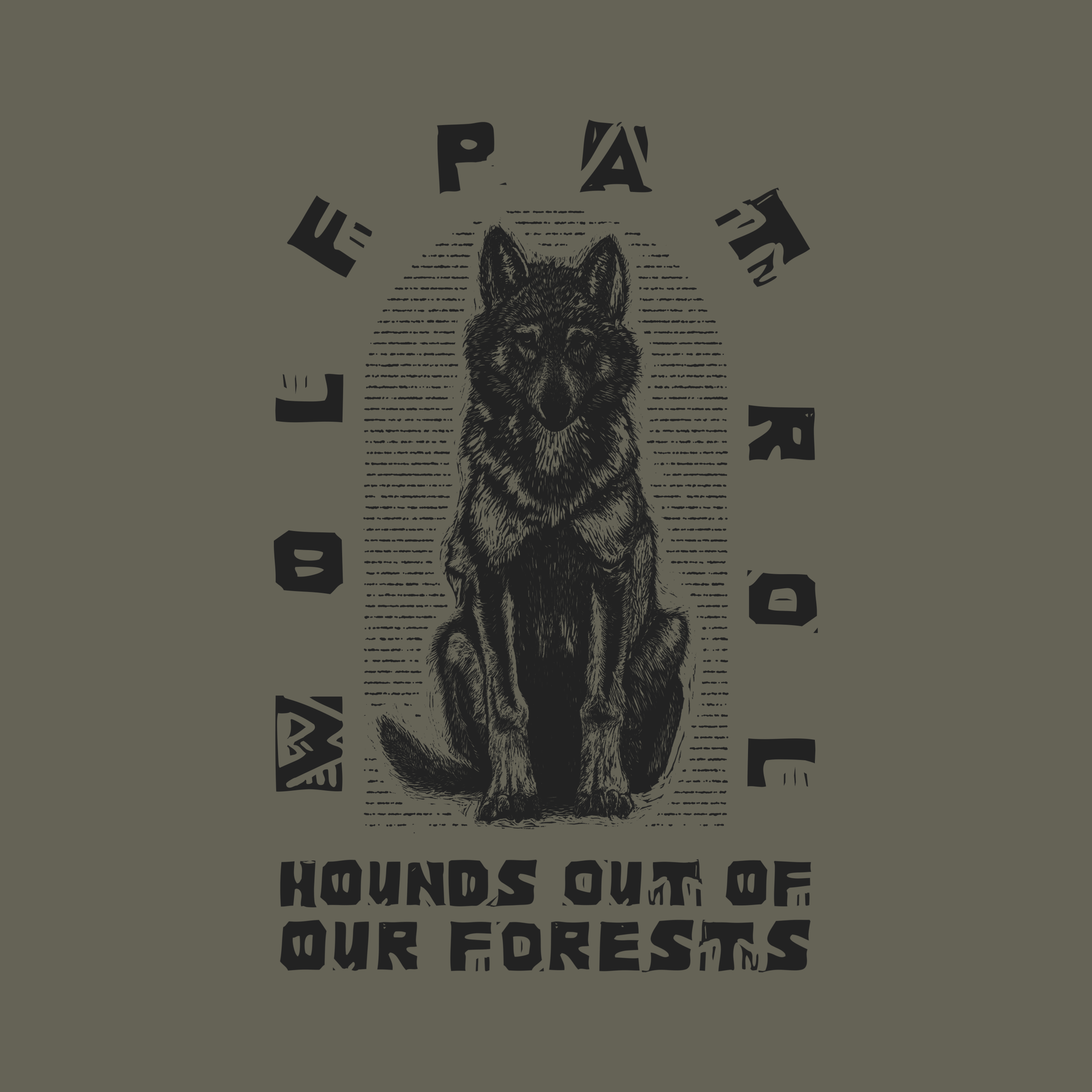 wolf patrol hounds shirt example